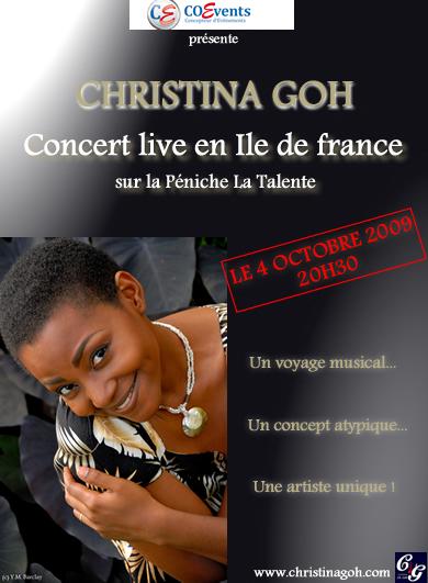 CHRISTINA GOH EN LIVE EN ILE DE FRANCE