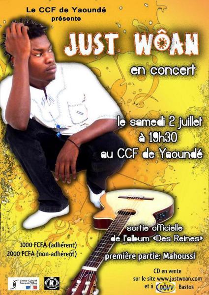 Just Wôan en concert