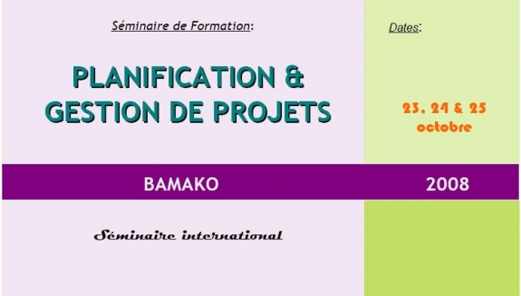 Séminaire International à Bamako