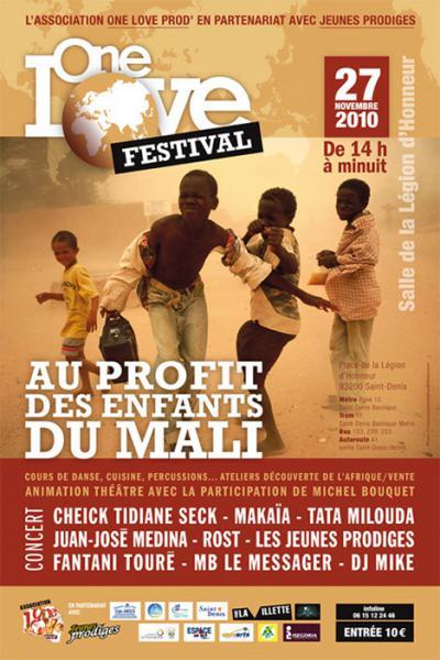 One Love Festival au profit des enfants du Mali