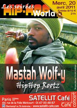 Mastah Wolf-y en concert
