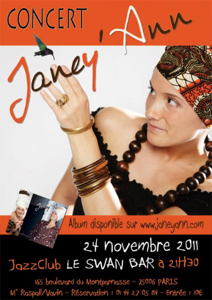 JANEY'ANN en CONCERT - Parce que Novembre ne rime pas [...]
