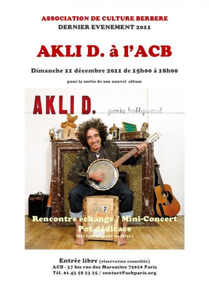 Akli D. à l'ACB pour son dernier album Paris Hollywood