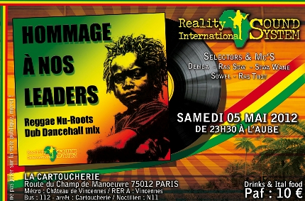 Soirée reggae • REALITY INTERNATIONAL sound system [...]
