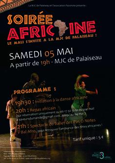 Grande soirée africaine à la MJC de Palaiseau - Le Mali [...]