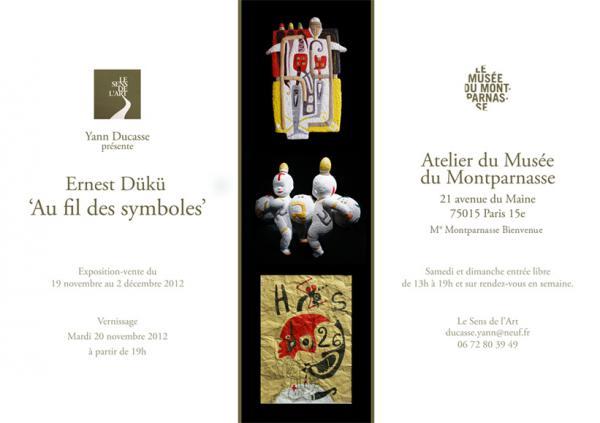 Exposition au fil des symboles Ernest Dükü