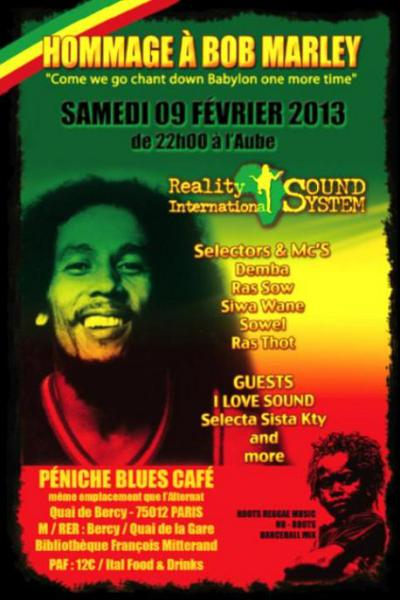 HOMMAGE BOB MARLEY - Reality International + I Love Sound