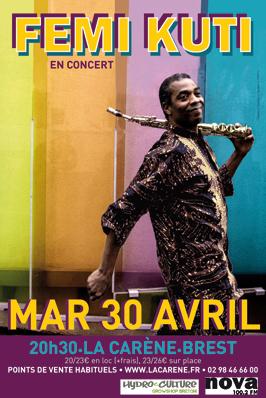 Femi Kuti en concert à Brest