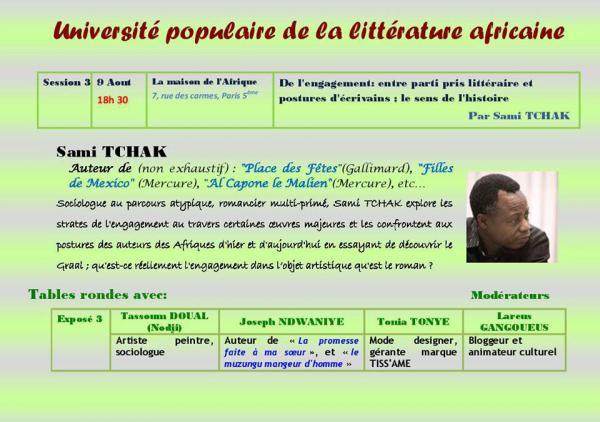 Université populaire de la littérature africaine - [...]