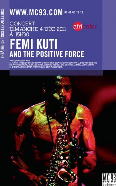 Femi Kuti en concert exceptionnel à la MC93
