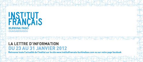 Programme 23-31 janvier. Institut français Ouagadougou