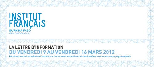 Programme IFBF Ouagadougou - Du 9 au 16 Mars