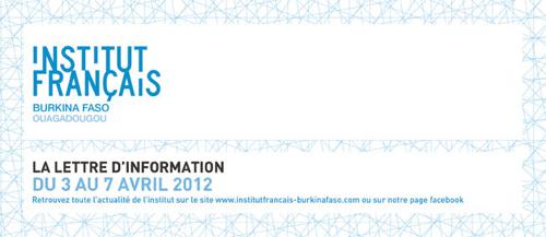 Programme IFBF Ouagadougou-Du 3 au 7 avril 2012