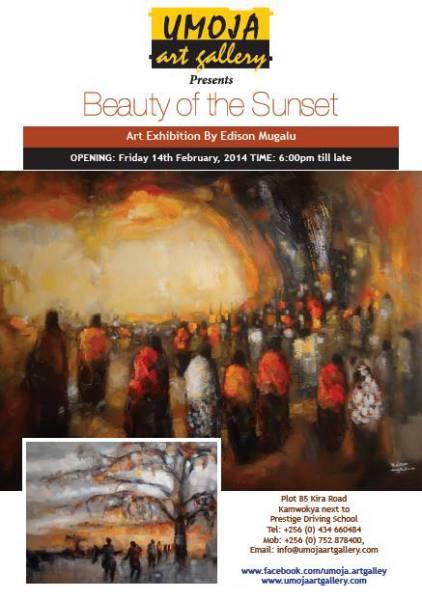 Art Exhibition by Edison Mugalu - Beauty of the Sunset