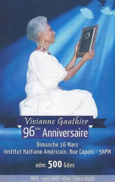 96ème anniversaire de Viviane Gauthier