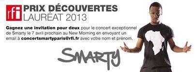 Smarty( prix découvertes RFI)