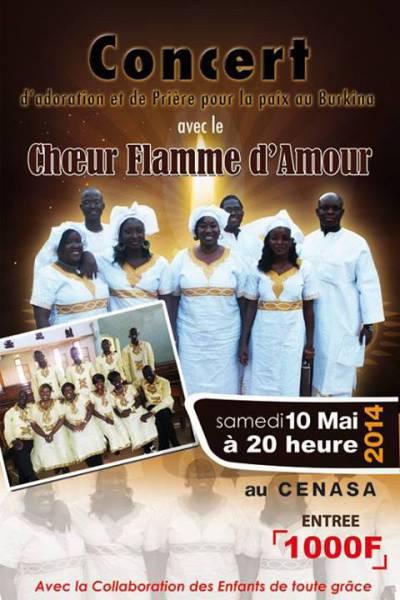 Concert cœur flamme d'amour
