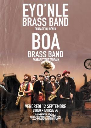 Boa brass band + Eyo'Nle Brass band @ l'Alimentation [...]