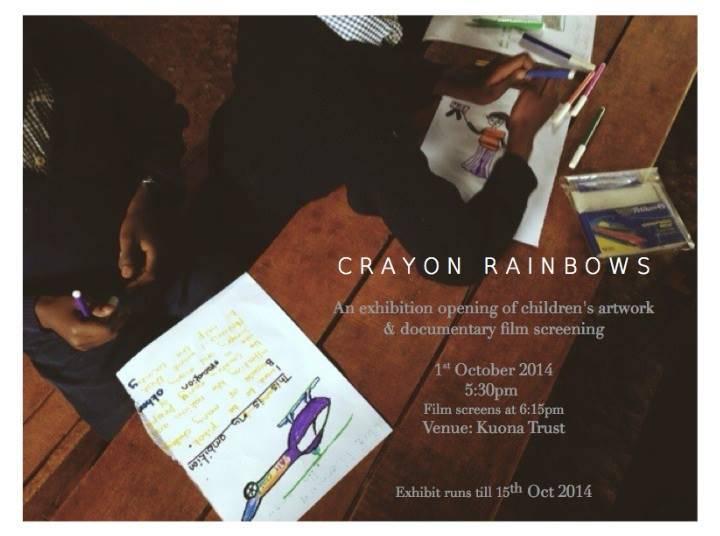 The 'Crayon Rainbows' exhibition