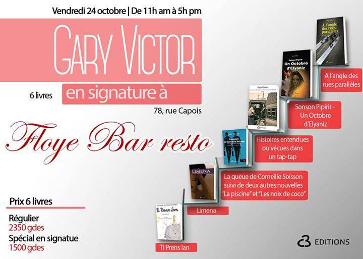Gary Victor en signature à Floye bar resto