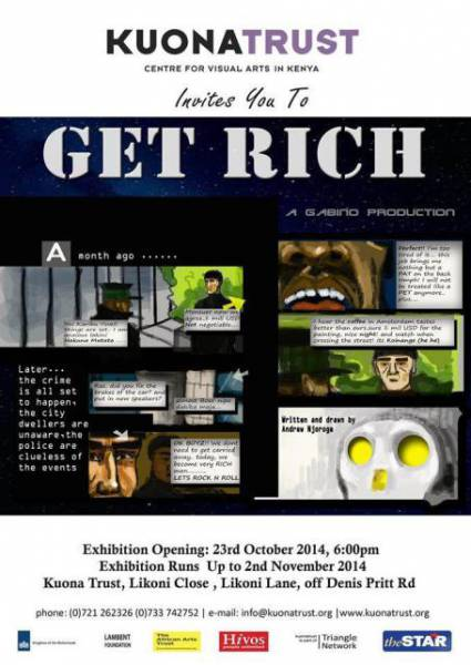 Animation Exhibition: Get Rich by artist Andrew Njoroge