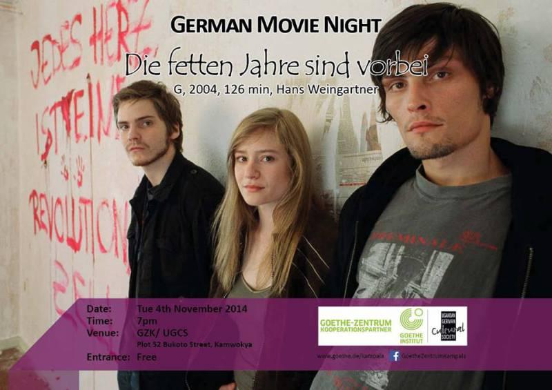 German Movie Night - Die fetten Jahre sind vorbei@ Goethe [...]