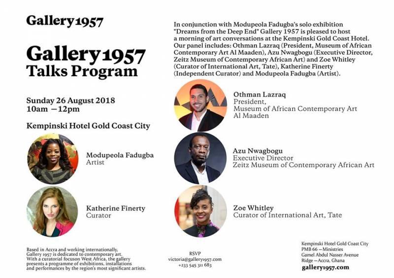 Gallery 1957 Talks Programme
