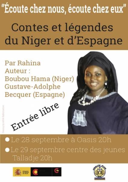 content et légende du Niger et d'Espagne