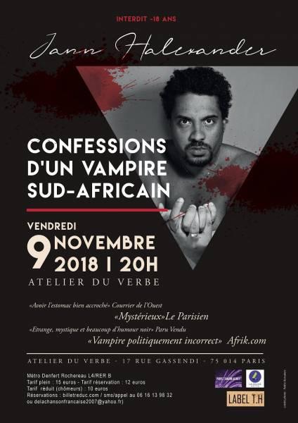 Jann Halexander 'Confessions d'un Vampire Sud-Africain', [...]