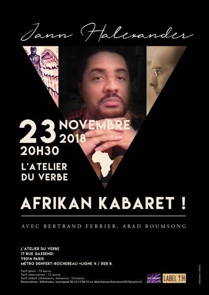 Jann Halexander 'Afrikan Kabaret' 23 novembre à l'Atelier [...]