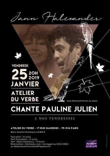 Jann Halexander chante Pauline Julien 'A Nos Tendresses'