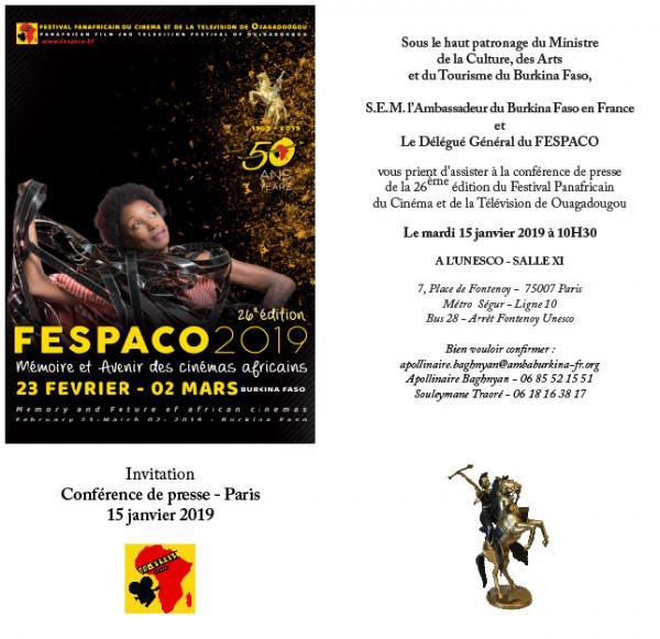 Conférence de presse FESPACO 2019 - Paris