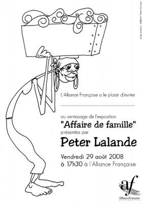 Exposition Affaire de famille (affiche), Alliance française de Victoria - 2008