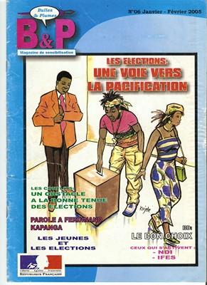 Bulles et plumes N°6 (couverture), Ed. Elondja - 2005