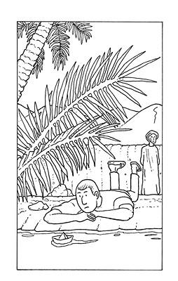 4ème de couverture La traversée, Ed. Nouiga -  2010.