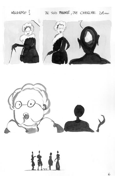 Etranger sans rendez vous (travaux préparatoires), Ed. bidon rouillé - 2007