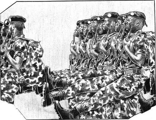 Chroniques de Brazzaville, La réserve ministérielle, planche de KHP