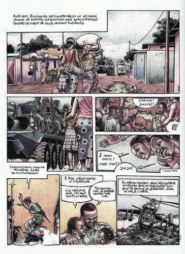 Chroniques de Brazzaville, planche couleur de KHP