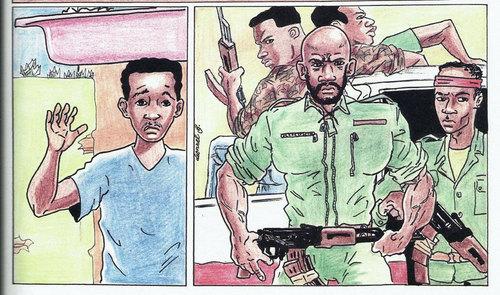 Chroniques de Brazzaville, planche de Lionel Boussi