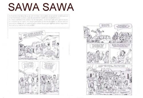 Sawa sawa, planches intérieures.
