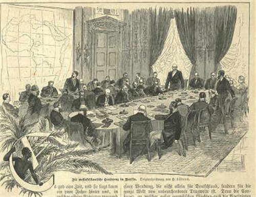 Литография заседания участников парижского конгресса