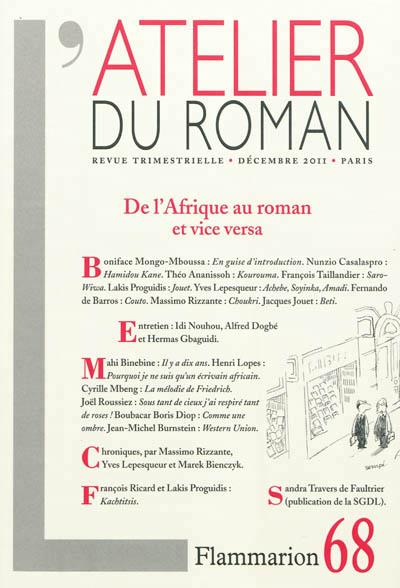 Afrique au roman et vice-versa (De l')