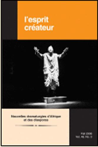 Nouvelles dramaturgies d'Afrique et des diasporas: cantate [...]