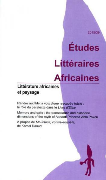Littérature africaine et paysage