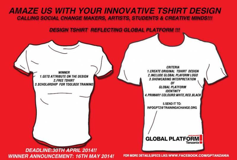 T-shirt for social change [...]