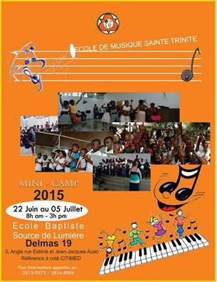 Mini-camp d'été de l'Ecole de musique Sainte Trinité