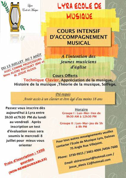 Cours Intensif d'accompagnement au [...]