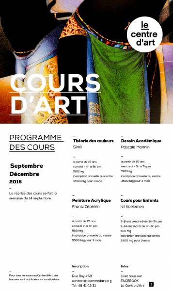 Nouvelle session de cours au Centre d'Art