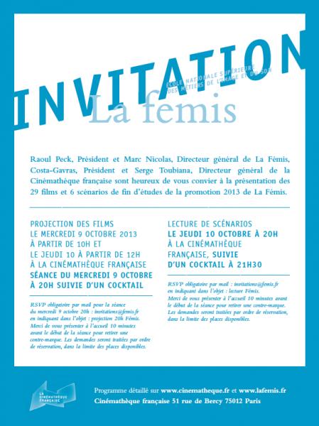 INVITATION / LA FÉMIS : projection de Rêves de lions