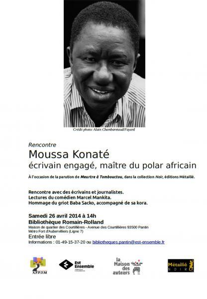 Rencontre autour de Moussa Konaté : Ecrivain engagé, [...]